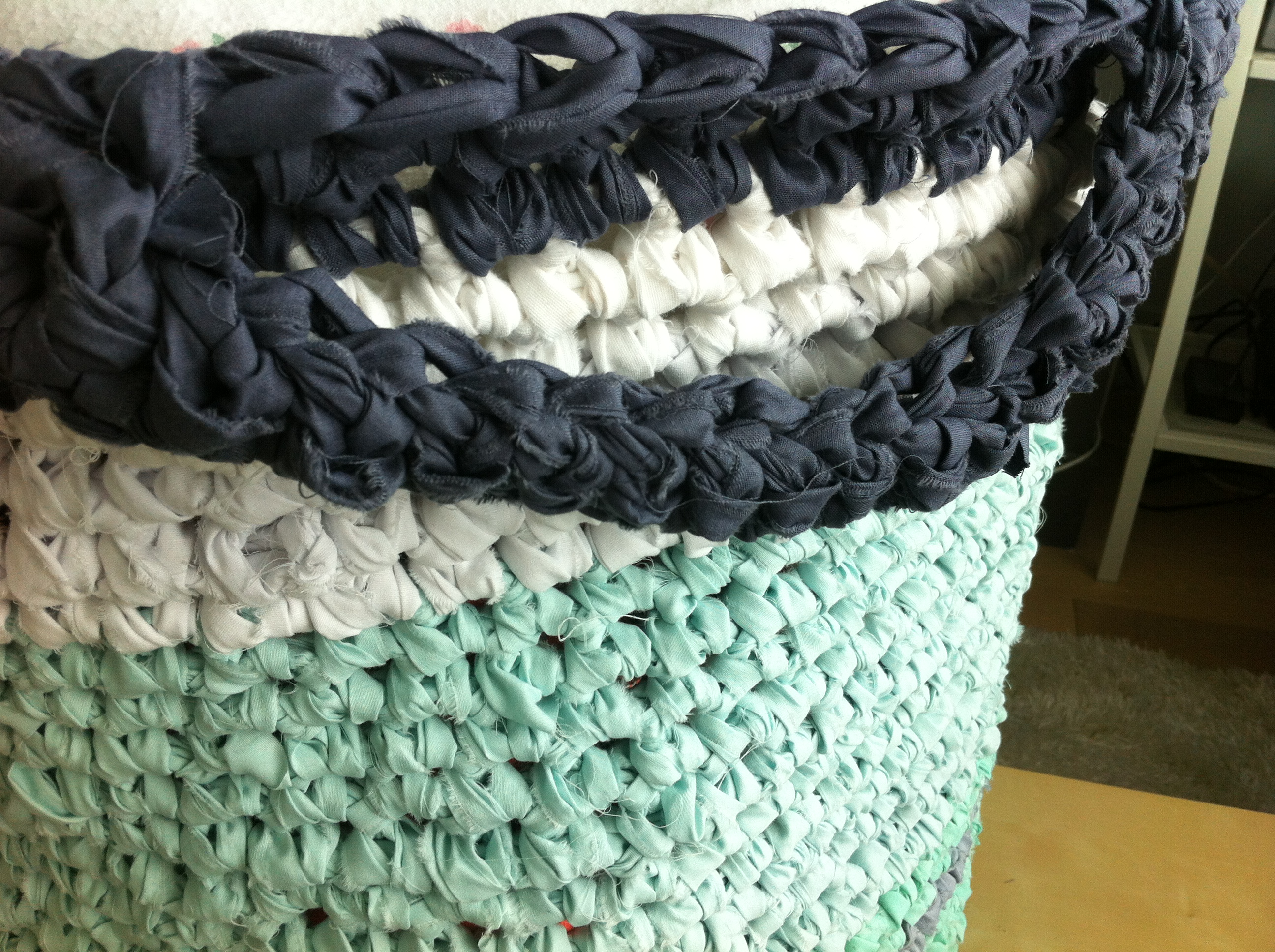 Crochet Basket With Handles Pattern Magnificent Decorating Design