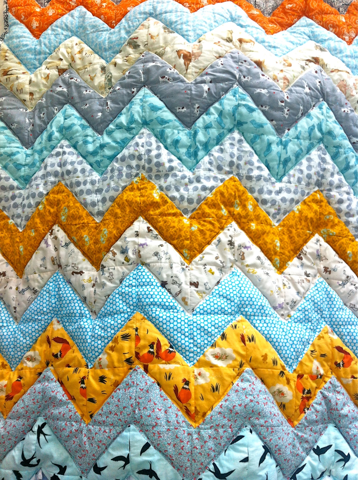 Chevron Baby Quilt Extra Thick For Baby To Play On Making Things