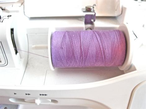 Purple thread for Baby bib